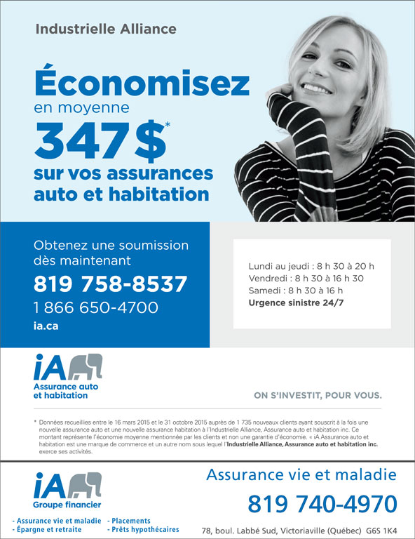 Industrielle Alliance (819-758-8537) - Annonce illustrée======= -
