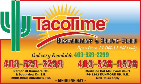 TacoTime (403-529-2299) - Annonce illustrée======= -