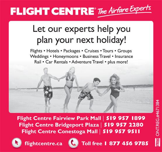 Flight Centre (1-866-849-0333) - Annonce illustrée======= -