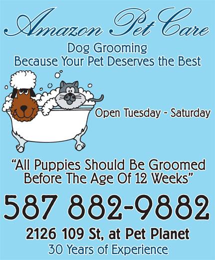 Amazon Pet Care (780-438-3130) - Annonce illustrée======= -