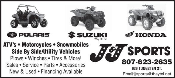 J & J Sports (807-623-2635) - Display Ad -