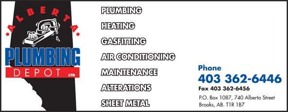 Alberta Plumbing Depot Ltd (403-362-6446) - Annonce illustrée======= -