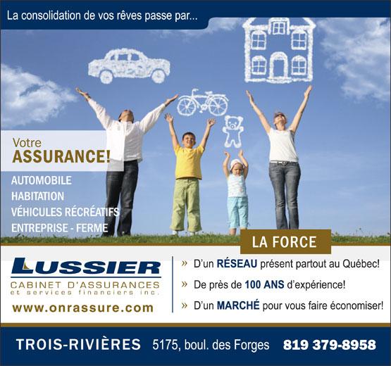 Lussier Cabinet d'assurances et Services Financiers Inc (819-379-8958) - Annonce illustrée======= -