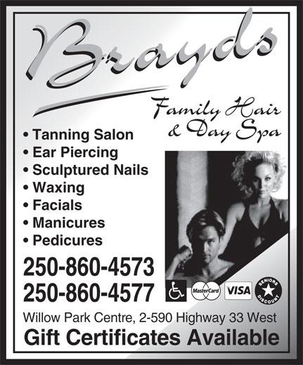 Brayds Family Hair Centre (250-860-4577) - Annonce illustrée======= -