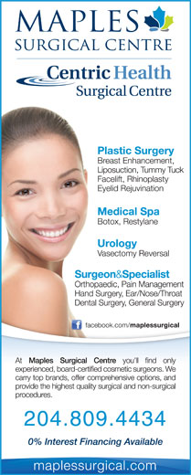 Maples Surgical Centre (204-633-1108) - Display Ad - 204.809.4434