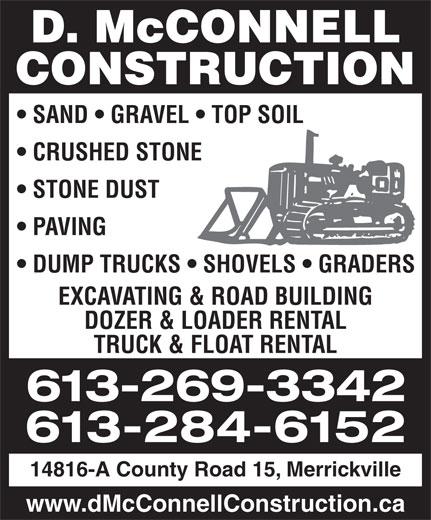 McConnell D Construction (613-269-3342) - Annonce illustrée======= -