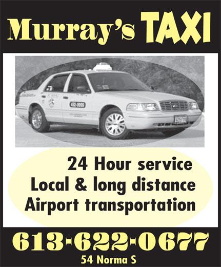 Murray's Taxi (613-622-0677) - Annonce illustrée======= -