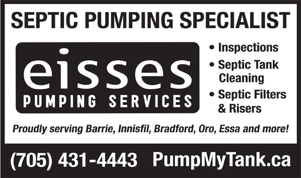 Eisses Pumping Services (705-431-4443) - Display Ad -