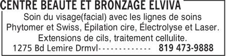 Salon Pur Concept (819-473-9888) - Annonce illustrée======= - Soin du visage(facial) avec les lignes de soins Phytomer et Swiss, Épilation cire, Électrolyse et Laser. Extensions de cils, traitement cellulite.