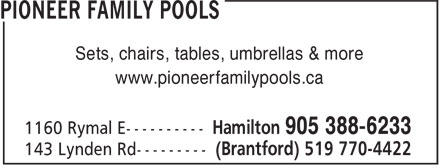Pioneer Family Pools (905-388-6233) - Annonce illustrée======= -