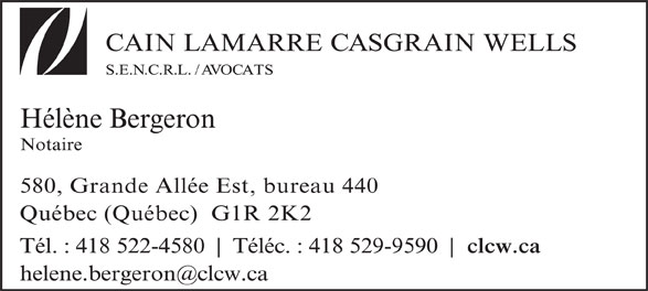 Hélène Bergeron (418-522-4580) - Annonce illustrée======= -