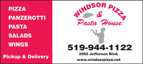 Windsor Pizza (519-944-1122) - Annonce illustrée======= -
