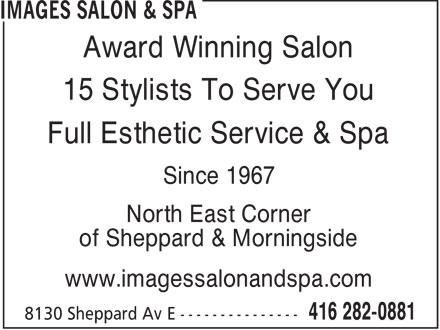 Images Salon & Spa (416-282-0881) - Display Ad -