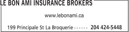 Le Bon Ami Insurance Brokers (204-424-5448) - Annonce illustrée======= - www.lebonami.ca