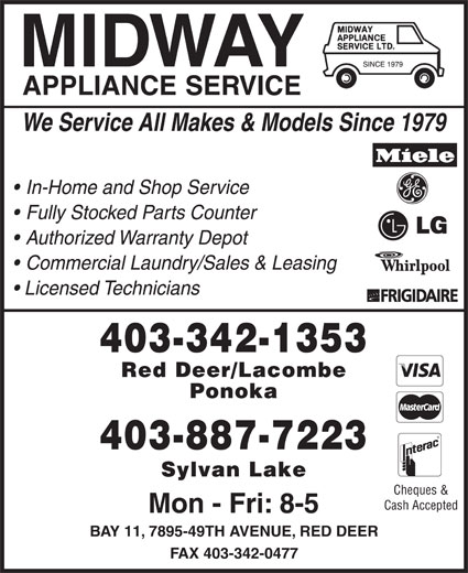 Ads Midway Appliance Service Ltd
