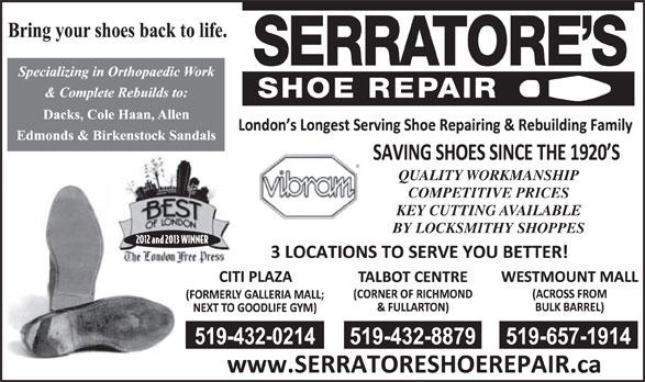 Serratore S Shoe Repair London On