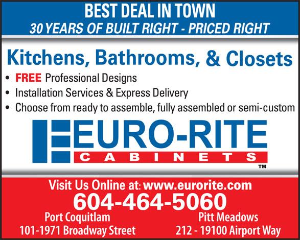 Ads Euro-Rite Cabinets