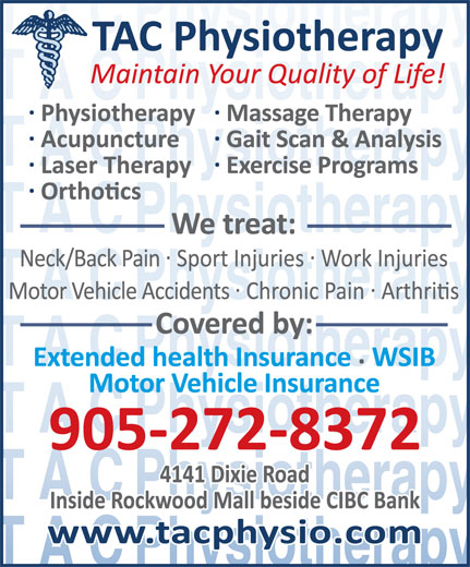 TAC Physiotherapy Clinic Inc (905-272-8372) - Display Ad -
