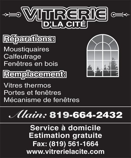 Vitrerie d 39 la cit 35 rue mangin gatineau qc for Fenetre gatineau