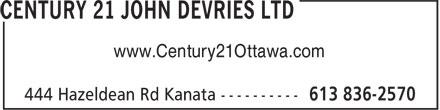 Century 21 (613-836-2570) - Display Ad - www.Century21Ottawa.com