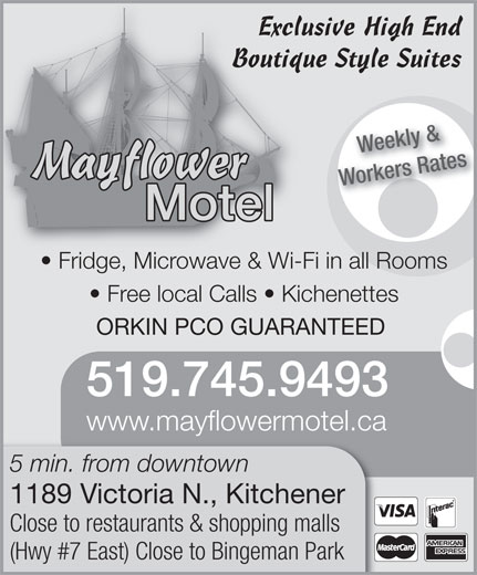 Mayflower Motel (519-745-9493) - Annonce illustrée======= -