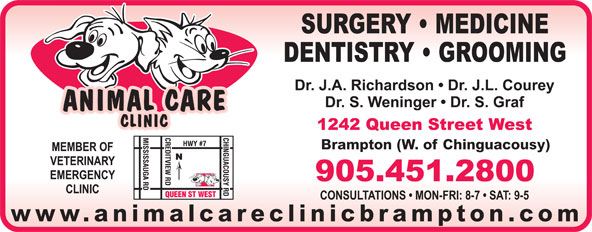 Animal Care Clinic (905-451-2800) - Annonce illustrée======= - Brampton (W. of Chinguacousy) www.animalcareclinicbrampton.com