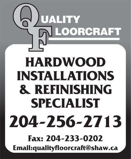 Quality Floorcraft (204-256-2713) - Display Ad -