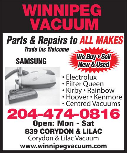 Winnipeg Vacuum 839 Corydon Ave Winnipeg Mb