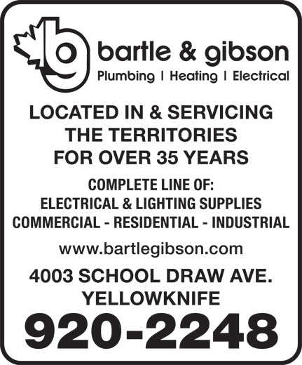 Bartle & Gibson Co Ltd (867-920-2248) - Display Ad -
