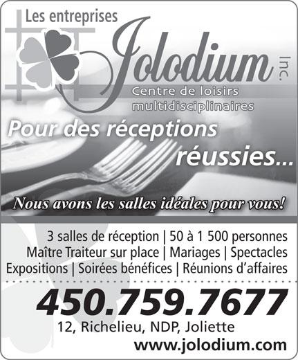 Jolodium Inc (Les Entreprises) (450-759-7677) - Display Ad -