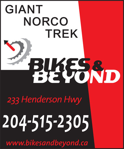 Bikes & Beyond (204-669-5590) - Display Ad - 204-515-2305 204-515-2305