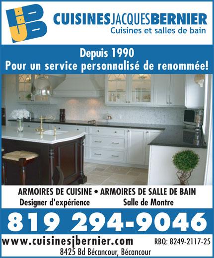 Armoires de cuisines jacques bernier 8425 boul for Armoires de cuisine bernier