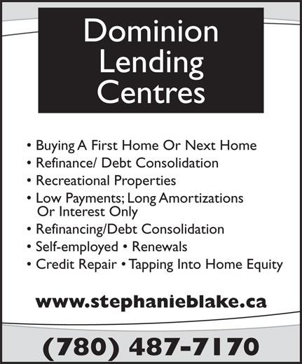 Dominion Lending Centres (780-487-7170) - Annonce illustrée======= -