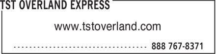 TST Overland Express (1-888-767-8371) - Annonce illustrée======= - www.tstoverland.com