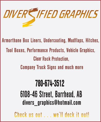 Diversified Graphics (780-674-3512) - Annonce illustrée======= - 780-674-3512