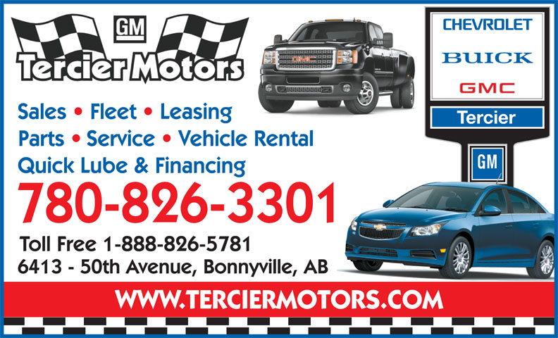 Tercier Motors Ltd (780-826-3301) - Display Ad -
