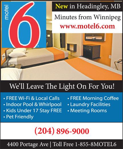 Motel 6 (204-896-9000) - Annonce illustrée======= -