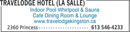 Travelodge (613-546-4233) - Display Ad -