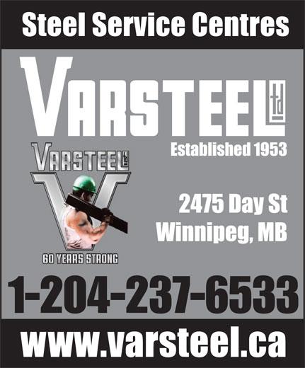 Varsteel Ltd (204-237-6533) - Annonce illustrée======= - 1-204-237-6533 1-204-237-6533