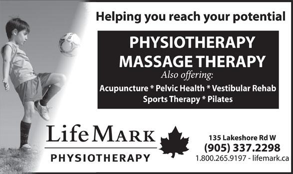 LifeMark Physiotherapy (905-337-2298) - Display Ad - Sports Therapy * Pilates Acupuncture * Pelvic Health * Vestibular Rehab
