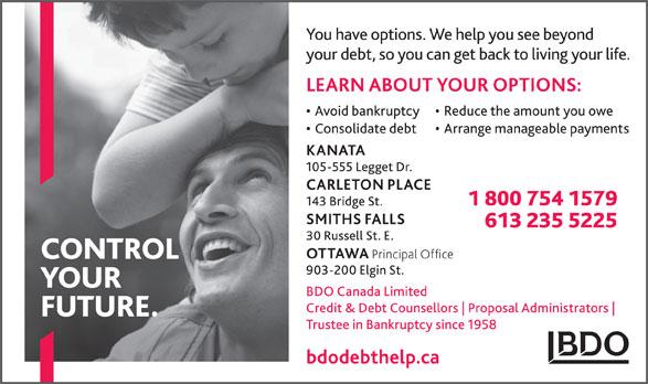 BDO Canada Limited (613-235-5225) - Annonce illustrée======= -