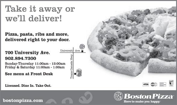 Boston Pizza (902-894-7300) - Display Ad -