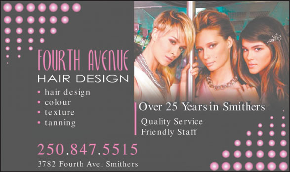 Fourth Ave Hair Design (250-847-5515) - Annonce illustrée======= -