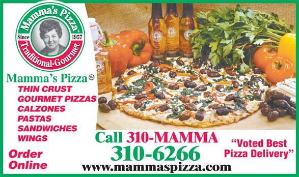 Mamma's Pizza (310-6266) - Annonce illustrée======= -