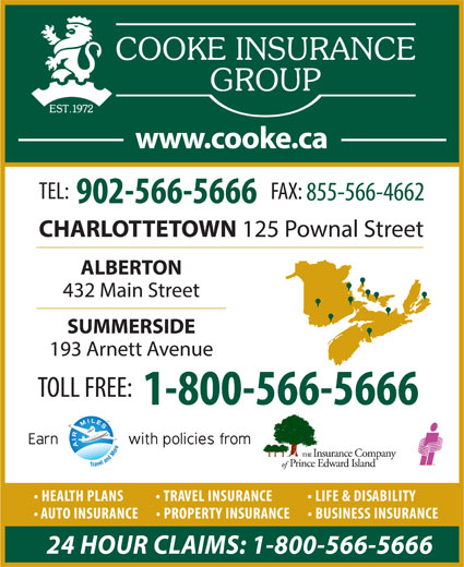 Cooke Insurance Group (902-566-5666) - Display Ad -