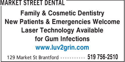 Market Street Dental (519-756-2510) - Display Ad -