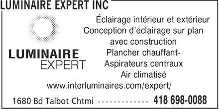 Luminaire Expert Inc 1680 Boul Talbot Chicoutimi Qc