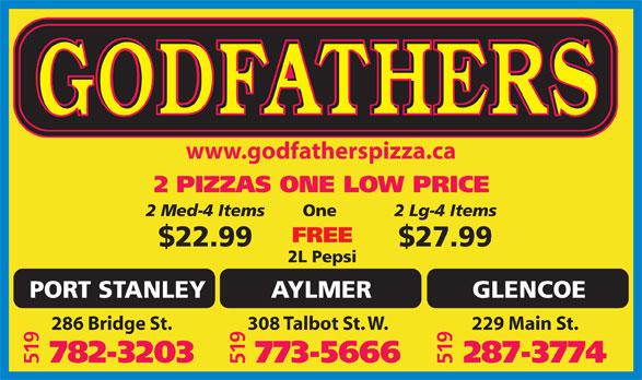 Ads Godfather Pizza - Port Stanley