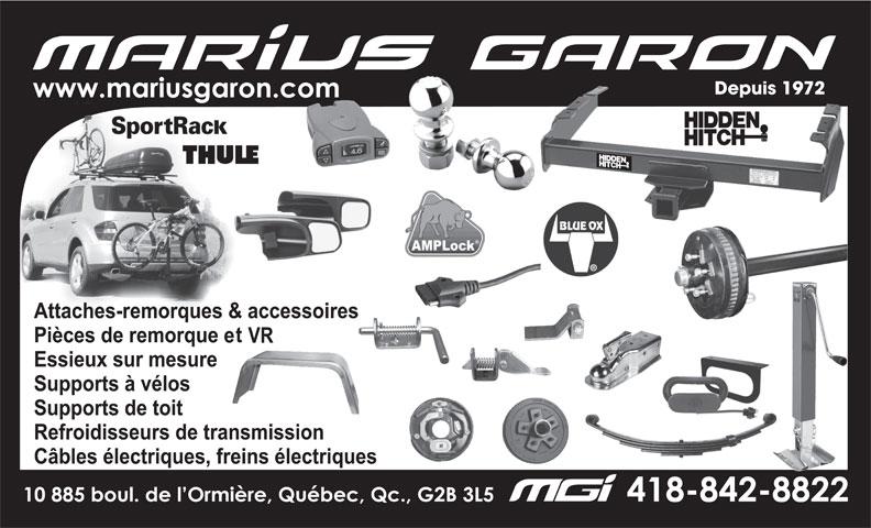 Marius Garon Inc (418-842-8822) - Annonce illustrée======= -