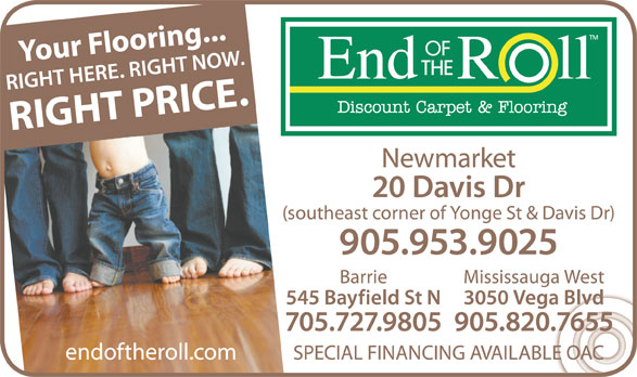 End Of The Roll Newmarket On 2 20 Davis Dr Canpages